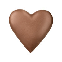 Herz aus Edelvollmilchschokolade