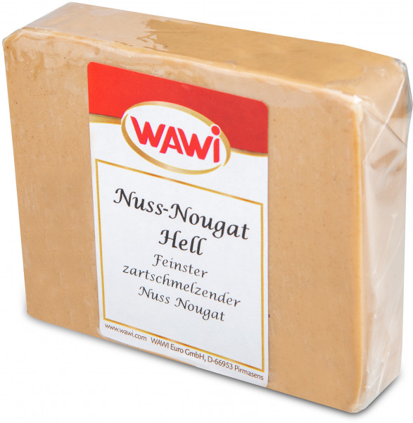 Nuss-Nougat hell Scheibe