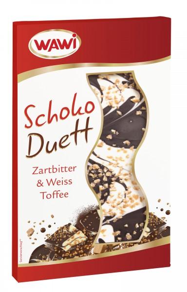 Schoko Duett Zartbitter & Weiss Toffee