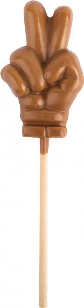 PEACE-Lolly aus Edelvollmilchschokolade