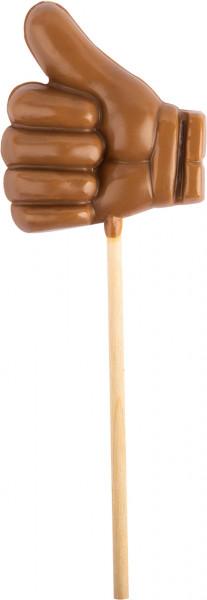 LIKE-Lolly aus Edelvollmilchschokolade